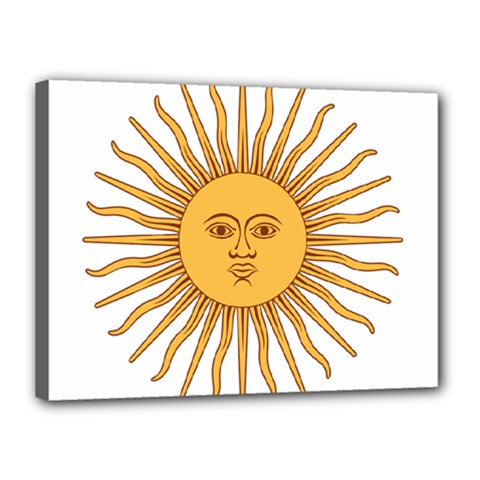 Argentina Sun Of May  Canvas 16  X 12