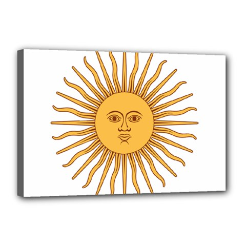 Argentina Sun of May  Canvas 18  x 12