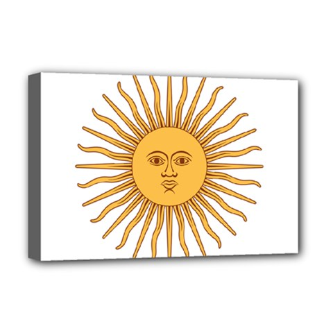Argentina Sun of May  Deluxe Canvas 18  x 12