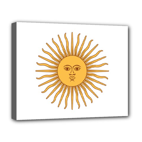 Argentina Sun Of May  Deluxe Canvas 20  X 16