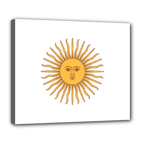 Argentina Sun of May  Deluxe Canvas 24  x 20