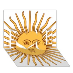 Argentina Sun of May  I Love You 3D Greeting Card (7x5)