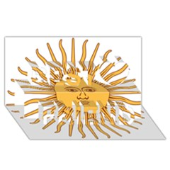 Argentina Sun of May  Best Friends 3D Greeting Card (8x4)