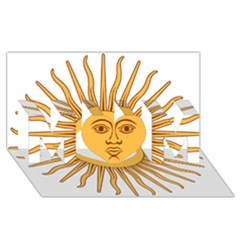 Argentina Sun of May  MOM 3D Greeting Card (8x4)