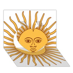 Argentina Sun of May  Heart 3D Greeting Card (7x5)