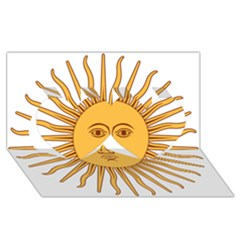 Argentina Sun of May  Twin Hearts 3D Greeting Card (8x4)