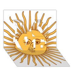Argentina Sun of May  LOVE 3D Greeting Card (7x5)