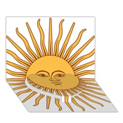 Argentina Sun of May  Heart Bottom 3D Greeting Card (7x5)