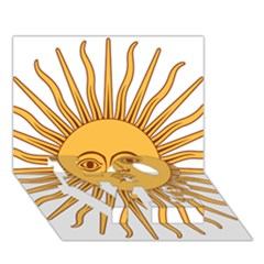 Argentina Sun of May  LOVE Bottom 3D Greeting Card (7x5)