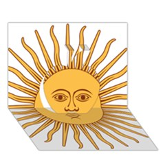 Argentina Sun of May  Apple 3D Greeting Card (7x5)