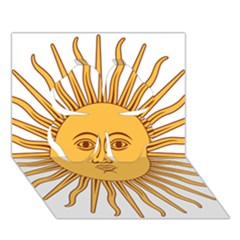 Argentina Sun of May  Clover 3D Greeting Card (7x5)