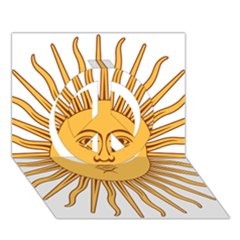 Argentina Sun of May  Peace Sign 3D Greeting Card (7x5)