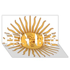 Argentina Sun of May  BEST BRO 3D Greeting Card (8x4)