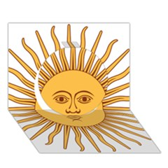 Argentina Sun of May  Circle 3D Greeting Card (7x5)