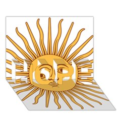 Argentina Sun of May  HOPE 3D Greeting Card (7x5)