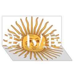 Argentina Sun of May  #1 DAD 3D Greeting Card (8x4)