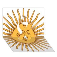 Argentina Sun of May  Ribbon 3D Greeting Card (7x5)