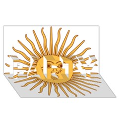 Argentina Sun of May  PARTY 3D Greeting Card (8x4)