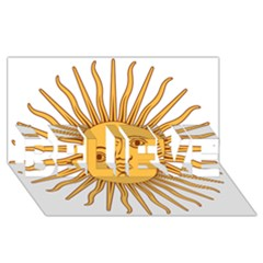 Argentina Sun of May  BELIEVE 3D Greeting Card (8x4)