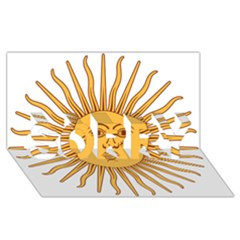 Argentina Sun of May  SORRY 3D Greeting Card (8x4)