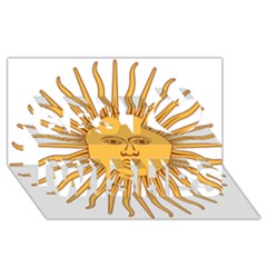 Argentina Sun of May  Best Wish 3D Greeting Card (8x4)