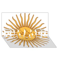 Argentina Sun of May  ENGAGED 3D Greeting Card (8x4)