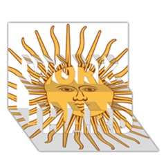 Argentina Sun of May  WORK HARD 3D Greeting Card (7x5)