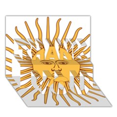 Argentina Sun of May  THANK YOU 3D Greeting Card (7x5)