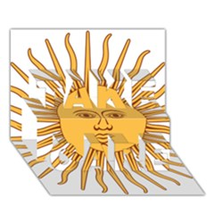 Argentina Sun of May  TAKE CARE 3D Greeting Card (7x5)