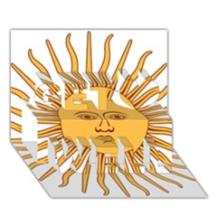 Argentina Sun of May  Get Well 3D Greeting Card (7x5)