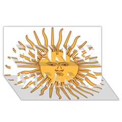 Argentina Sun of May  Merry Xmas 3D Greeting Card (8x4)