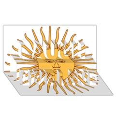 Argentina Sun of May  Laugh Live Love 3D Greeting Card (8x4)