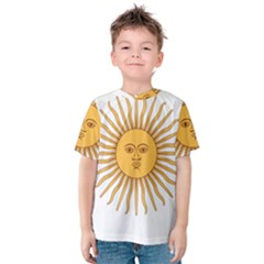 Argentina Sun of May  Kid s Cotton Tee