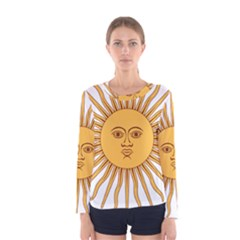 Argentina Sun of May  Women s Long Sleeve Tee