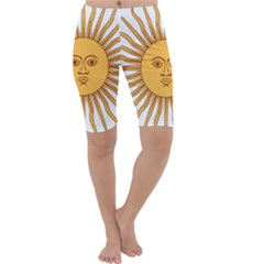 Argentina Sun of May  Cropped Leggings