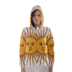 Argentina Sun of May  Hooded Wind Breaker (Women)