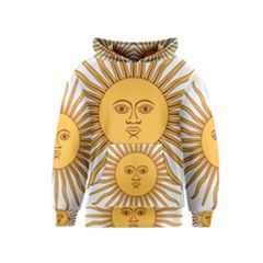 Argentina Sun of May  Kids  Pullover Hoodie