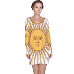 Argentina Sun of May  Long Sleeve Nightdress