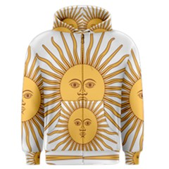 Argentina Sun of May  Men s Zipper Hoodie