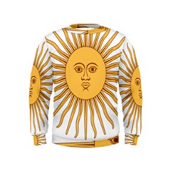 Argentina Sun of May  Kids  Sweatshirt