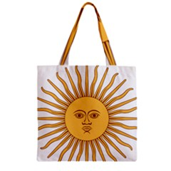 Argentina Sun of May  Zipper Grocery Tote Bag
