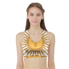 Argentina Sun of May  Sports Bra with Border
