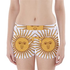 Argentina Sun of May  Boyleg Bikini Wrap Bottoms