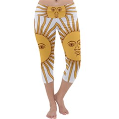 Argentina Sun of May  Capri Yoga Leggings