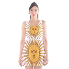 Argentina Sun of May  Scoop Neck Skater Dress
