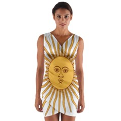 Argentina Sun of May  Wrap Front Bodycon Dress