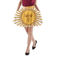 Argentina Sun of May  A-Line Pocket Skirt