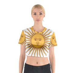 Argentina Sun of May  Cotton Crop Top