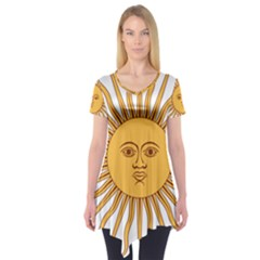 Argentina Sun of May  Short Sleeve Tunic