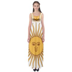 Argentina Sun of May  Empire Waist Maxi Dress